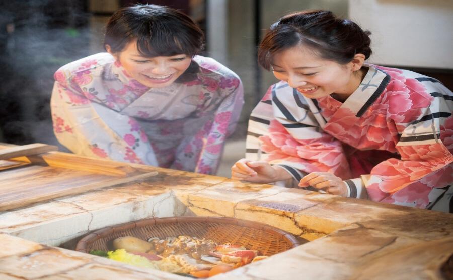 벳푸명물 지옥찜 요리 체험 즐거워