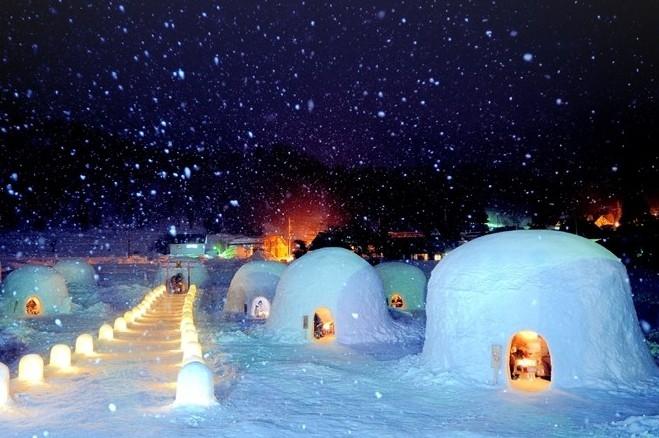 가마쿠라 눈 집에서 겨울요리 즐겨보세요!